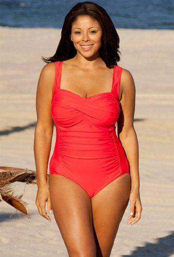 623259c06e054 amazon-delta-burke-swimwear Delta Burke Swimwear is beautifully styled for  today's fashionable plus-size ...