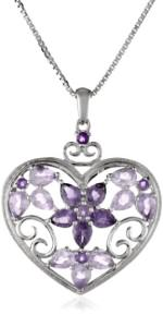Amethyst Heart Shaped Necklace