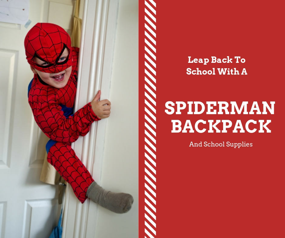 e7916166663e Go Back To School With A Spiderman Backpack And School Supplies